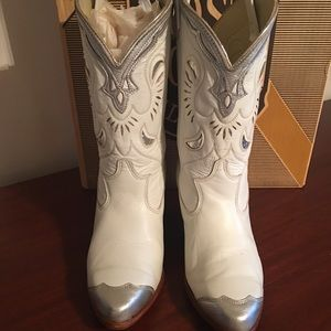 Antique White Boots